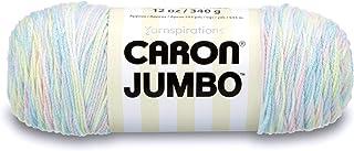 Caron 29400909010 Jumbo Ombre Yarn, 12 oz, Baby Rainbow, 1 Ball