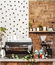 StickerDeen | Koffieboon patroon stijl vorm decoratie verwijderbare muur kunst, venster, meubels Espresso filter machine v...