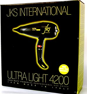 JKS Italian Ultra Light 4200 Powerful Blow Dryer, Award Winner, professional stylist #1 choice