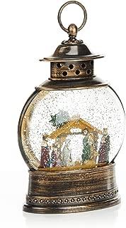 ReLive Christmas Light-Up Snow Globe Lantern - Nativity