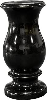 Granite Monument Flower Vase 9x5-c (Absolute Black)