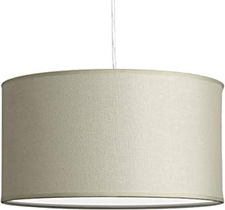 Messina Drum Pendant Ceiling Light - Cream Woven Shade - Linea di Liara LL-P719