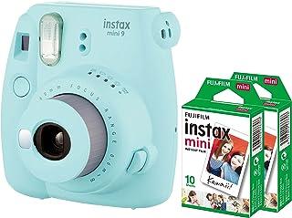 Fujifilm Instax Mini 9 Instant Camera + 2 Pack Films- Ice Blue