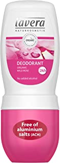 lavera Natural Roll-on Wild Rose Deodorant: Aluminum-Free Odor Protection & Wetness Relief with Organic and Vegan Wild Rose – all Day Fresh – 1.6 Oz