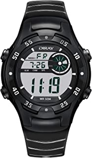 DIRAY Men Analog Digital Sport Watch Electronic Wrist Watches with Alarm Stopwatch LED Backlight