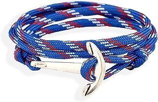 Silver Alloy Hope Anchor Bracelet Multilayer 5 Colors Rope Chain Paracord Bracelet for Women Men Friendship Gift