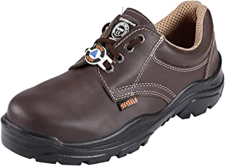ACME Sodium Leather Safety Shoes Brown (Size - ACME010_41)