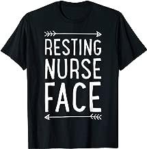 Resting Nurse Face T shirt Women Funny Nursing Nurses Gift