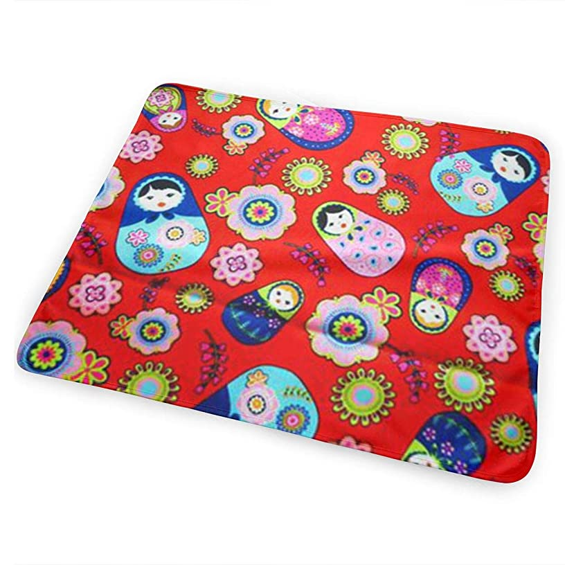 Dy27sdsmat Russian Matryoshka Nesting Dolls Bright Portable Diaper Changing Pad - Makes Any Surface A Changing Station - Great for Baby Showers - Ideal for Your Infant, Newborn Or Toddler