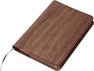 【一郎木創】ブックカバー ブラック ウォルナット 胡桃 木製:文庫本サイズ・A6サイズ