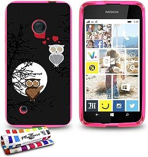 Ultralätt mjukt skyddsfodral Nokia LUMIA 530 [Eulen] [Rosa] av Muzzano + STIFT och MICROFASERTUCH MUZZANO® GRATIS – det ul...