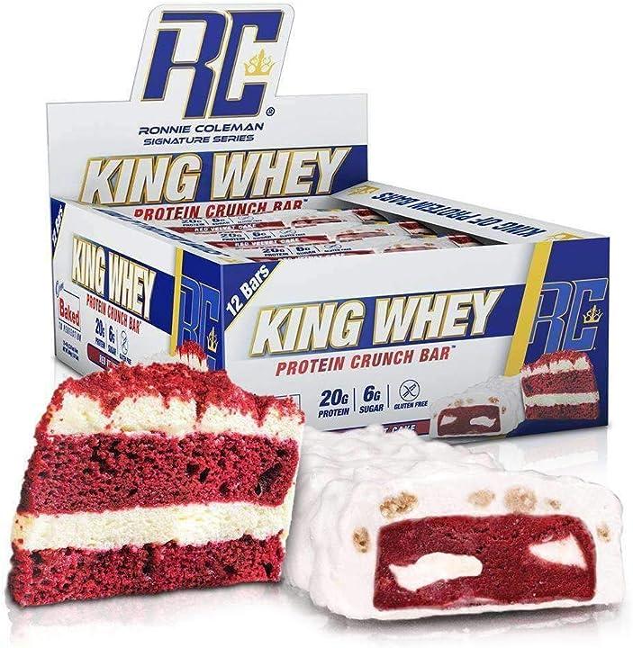 12 barrette proteiche ronnie coleman signature series kings , torta di velluto rosso - 560 g 9001C