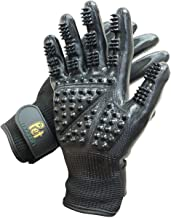 Effective Patented Grooming Gloves One Size Fit All Works For Dogs, Horses, Cats and Other Animals (1-pair)