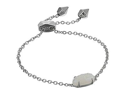 Kendra Scott Everlyne Bracelet (Rhodium Iridscnt Drusy) Bracelet