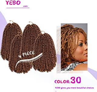 4 pack spring twist crochet braiding hair Ombre Colors Synthetic Hair Extensions #30