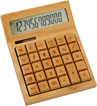 $36 » Roadiress Bamboo Solar Calculator, 12-Digit 29-Key LCD Display Office Calculator School Supplies(CS30)