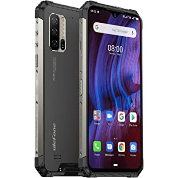 "Ulefone Armor 7E Rugged Smartphone Unlocked, IP68 Waterproof Cell Phones Helio P90 Android 10 4GB + 128GB, 48MP+2MP+2MP Triple Camera, 5500mAh Battery QI Wireless Charge, 6.3"" FHD+, Global Bands, NFC"