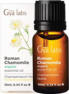 Gya Labs Organic Roman Chamomile Essential Oil - Great for Stress Relief & Sleep - Natural Moisturizer for ...