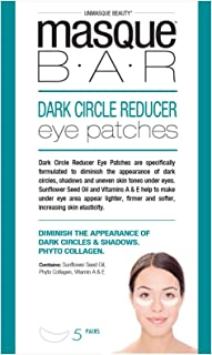 masque BAR Dark Circle Reducer Eye Patches w/Sunflower Seed Oil, Licorice Root Extract & Vitamin E - Hydrating Undereye Mask for Shadows & Uneven Skin Tone - Made in Korea