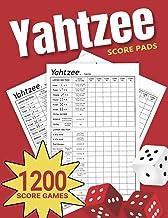 Yahtzee Score Pads: 1200 Large Size Yahtzee Score Sheets Games (Yahtzee Score Books)