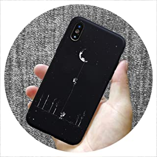 Fashion Pattern Silicone case for iPhone 7 6 6S 8 Plus X 5 S 5S SE XS Max XR Matte Phone Set Star Moon Mobile Phone case,SY0170,for iPhone 7