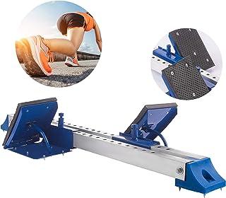 Popsport 铝合金起动积木轨道和田径起动积木,带可调节踏板和厚橡胶垫起动块,适用于合成或灰姑娘轨道