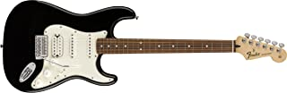 Fender 6 String Standard Stratocaster Electric Guitar-HSS-PAU Ferro Fingerboard, Black (144703506)