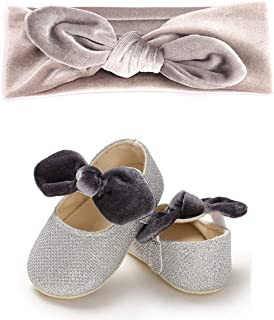 BENHERO Infant Toddler Baby Girls Mary Jane Slippers Soft Sole PU Leather No-Slip Princess First Walkers Shoes