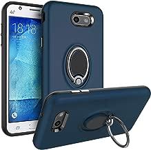Galaxy J3 Luna Pro Case,Galaxy J3 Emerge/J3 Eclipse/J3 Prime/J3 Mission/J3 Amp Prime/J3 Express Prime Case,SUSAA 360 Degree Metal Ring Holder Kickstand Phone Case Cover for Samsung J3 2017 Navy Blue