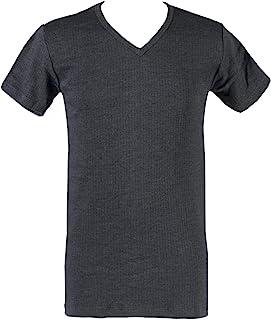 HEAT HOLDERS Mens 1 Pack V Neck Short Sleeved Thermal Vest