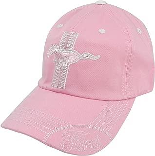 Ford Mustang Tri-Bar Logo Pink Baseball Cap