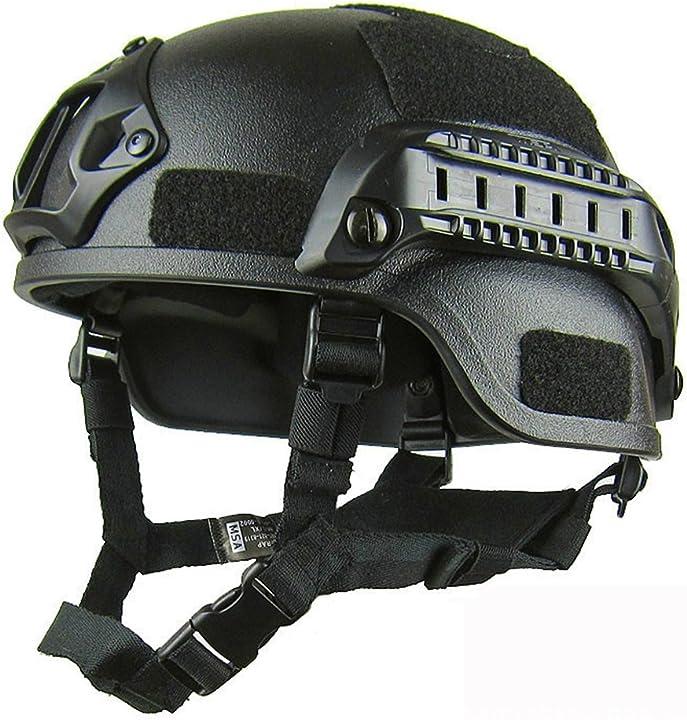 Casco tattico protettivo per softair, con supporto nvg e guide laterali, per paintball e giochi tattici gezich 15296343690730