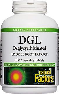 Natural Factors - Dgl Deglycyrrhizinated Licorice 400 Mg. 180 Chewable Tablets 126583