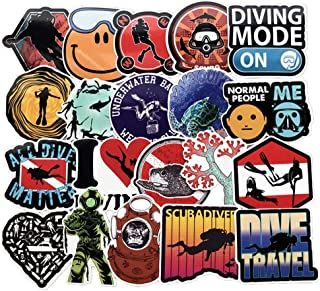 Homyu Stickers 60-Pcs PVC Decals Diving Cartoon Waterproof Sunlight-Proof DIY Ideals for Cars Motorbikes Skateboard Spinner Luggages Laptops