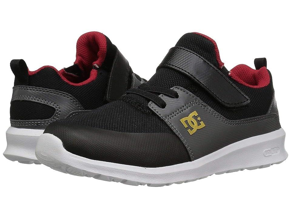 DC Kids Heathrow Prestige EV (Little Kid/Big Kid) (Black/Grey/Red) Boys Shoes
