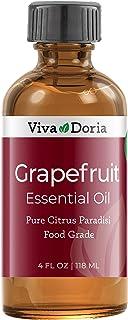 Viva Doria 100% Pure Grapefruit Essential Oil, Undiluted, Food Grade, made in USA Grapefruit Oil, 118 mL (4 Fl Oz)