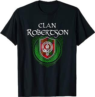Robertson Surname Scottish Clan Tartan Crest Badge T-shirt