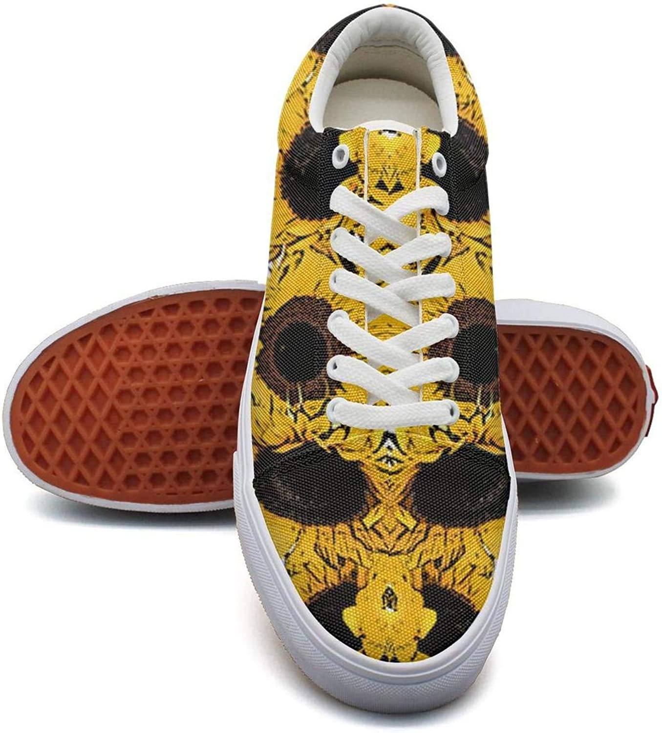 MSSDFF Pattern with Sunflower Seeds Comfortable Canvas Tennis shoes for Women