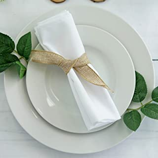 BalsaCircle 20 pcs 17-Inch White Polyester Luncheon Napkins - for Wedding Party Reception Events Restaurant Kitchen Home