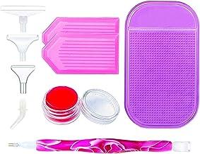 Diamond Painting accessoires, doe-het-zelf diamond painting, accessoires, led-puntstift + Grid Diamond Box + antislip mat,...