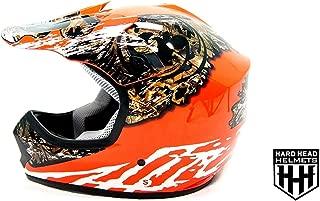 SmartDealsNow - HHH DOT Youth & Kids Helmet for Dirtbike ATV Motocross MX Offroad Motorcyle Street bike ORANGE CAMO (Large)