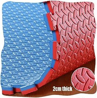 YANGJUN Interlocking Foam Mats Kids Double Sided Non-slip Waterproof Protection Leaf Pattern Thicken, 4 Colors (Color : D,...