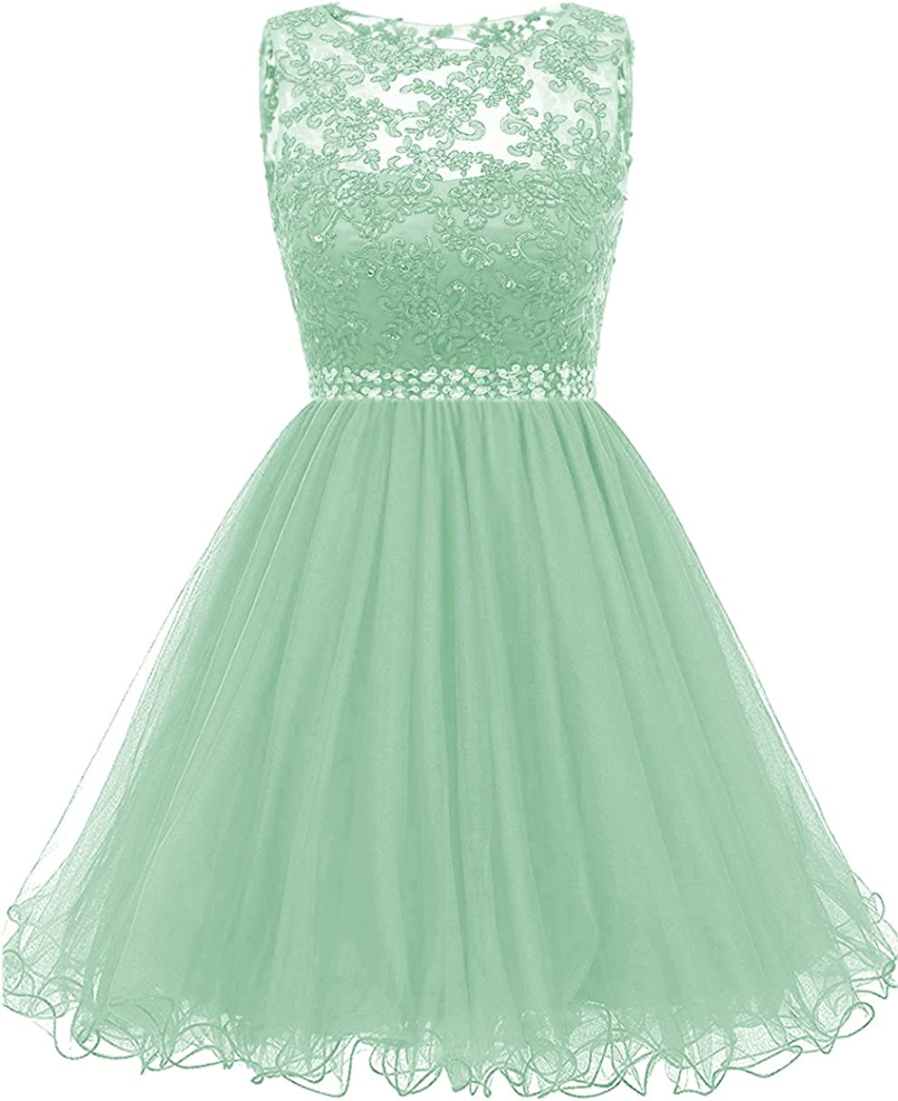 Himoda Lace Homecoming Dresses Sequined s Cocktail Prom Gowns Short H010