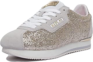 REPLAY Suerte Lace Up Glitter Trainer