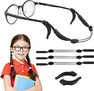 KODI 眼鏡ストラップ 眼鏡 バンド 固定用 ずれ落ち防止 滑り止め 耳フック付き サングラス 老眼鏡 偏光グラス対応 スポーツ アウトドア 大活躍 軽量 防水 長さ調整可 男女老若兼用 3枚セット