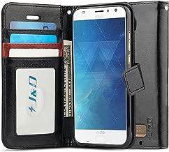 J&D Case Compatible for Moto Z2 Play Case, [Wallet Stand] [Slim Fit] Heavy Duty Shockproof Flip Cover Wallet Case for Motorola Moto Z2 Play Wallet Case - [Not for Moto Z Play/Moto Z3 Play] - Black