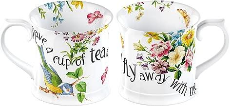 Katie Alice English Garden Fly Away Shabby Chic Porcelain Mug