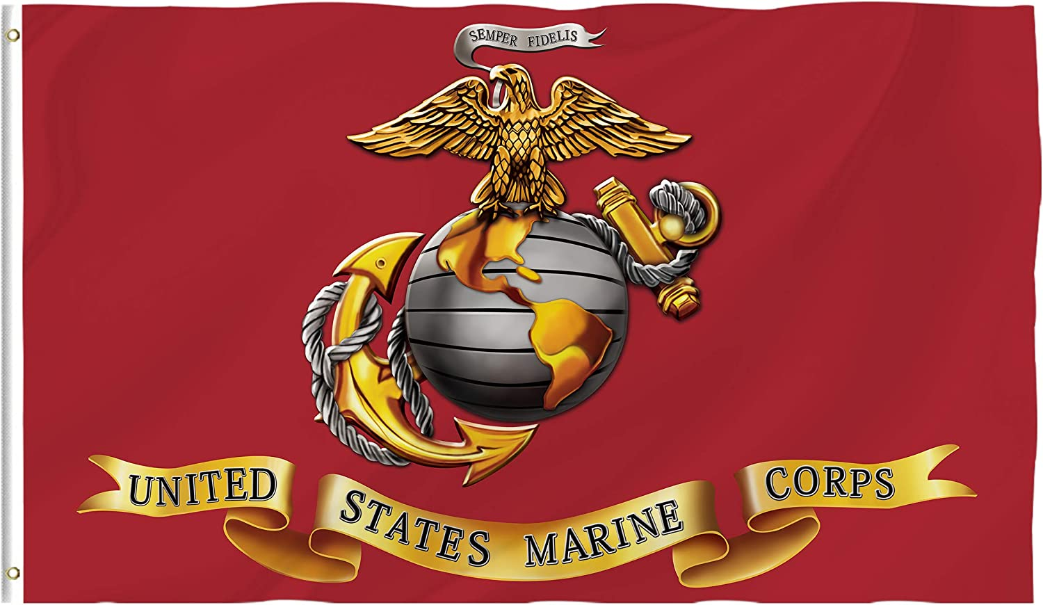 Hexagram Marine Corps Flag Semper Fi Resistant Doubl Portland Mall 2021new shipping free shipping 4x6 UV - Ft