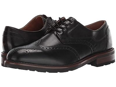 J&M EST. 1850 Fullerton Wing Tip (Black) Men