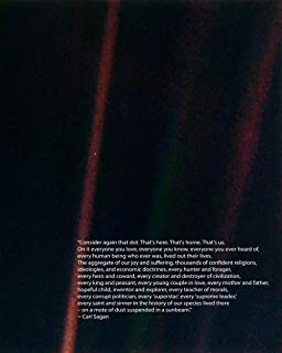 Wallbuddy The Pale Blue Dot Poster Carl Sagan Print Astronomy Poster Science Poster Science Decor Space Poster Art Space Art Space Decor (11 x 14)